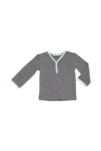 Cool Gray Long Sleeves Henley