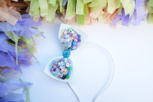 Confetti Bow Headpiece