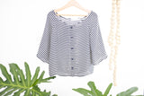 Bare Shoulders Striped Blouse Mini