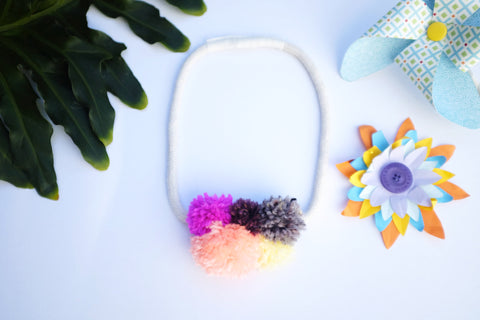 Happy Pompom Necklace