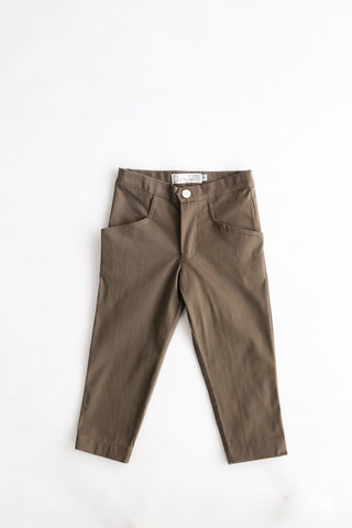 Chocolate Brown Cigarette Pants