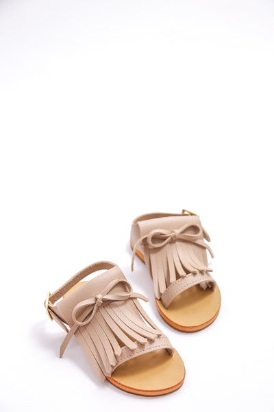 Nude Fringes Sandals