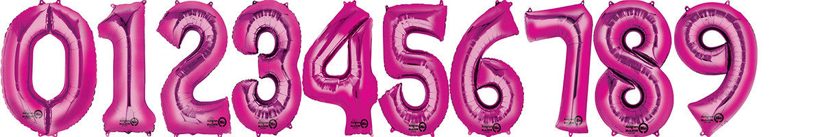 Number Balloons   Pink