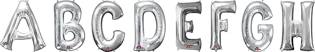 letter balloons silver