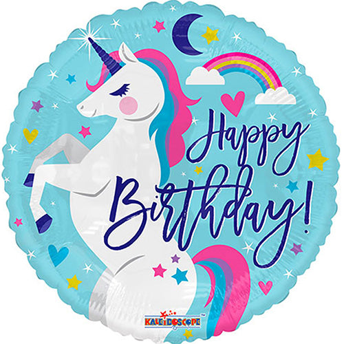 Unicorn Balloon Happy Birthday Foil 18