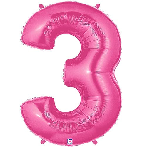 Giant Bright Pink Number 5 Foil Balloon 33 U0026quot
