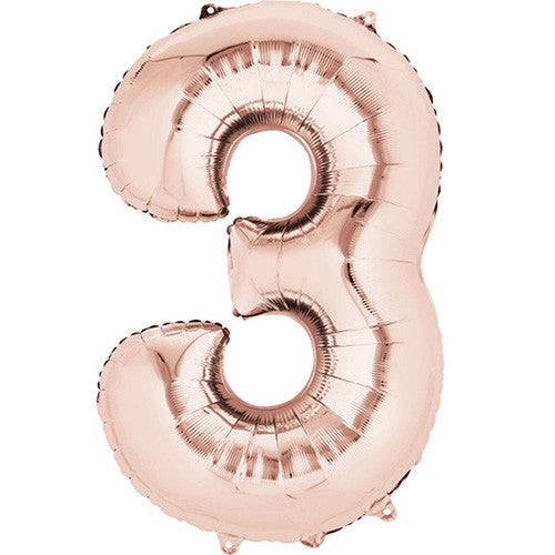 Number Balloon Gift Rose Gold Giant Number Balloon Decoration 86 cm 6th Birthday