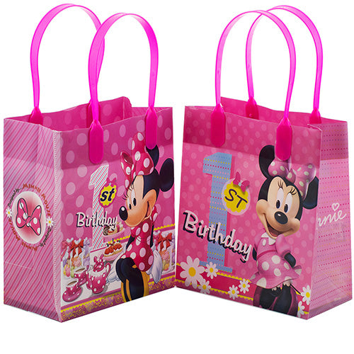 Minnie Mouse 1st Birthday 12 Reusable Small Goodie Bags