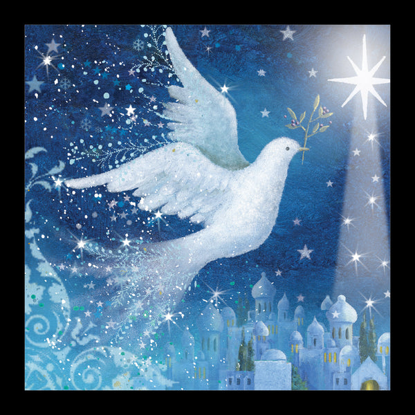"Dove over Bethlehem<p style=""color_gold"">LUXURY RANGE"