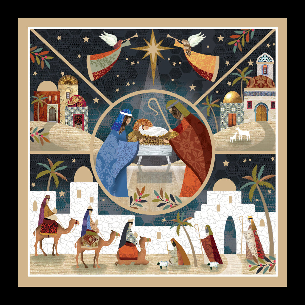 "Angels over the Manger<p style=""color_gold"">LUXURY RANGE"