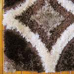 Geometric shaggy unique patterned rugs & carpets