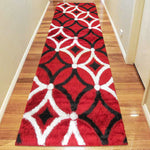Geometric shaggy unique patterned runner