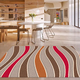Beautiful vivid modern tricolor rugs & carpets