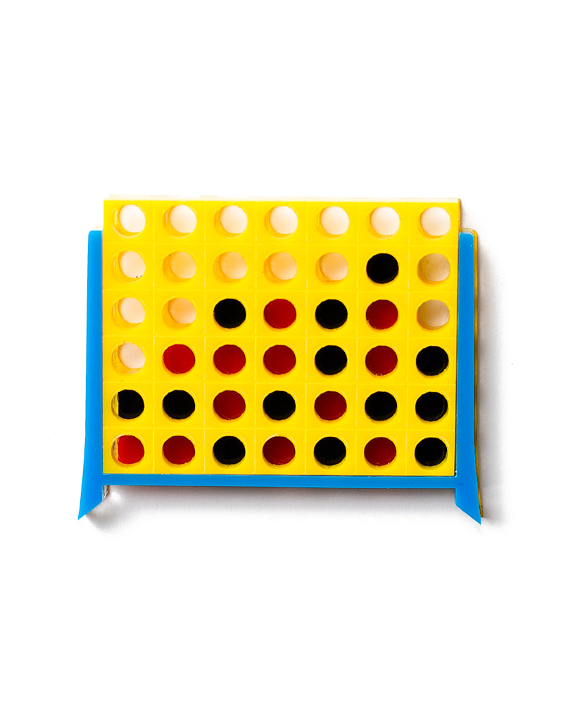 Connect Four Brooch