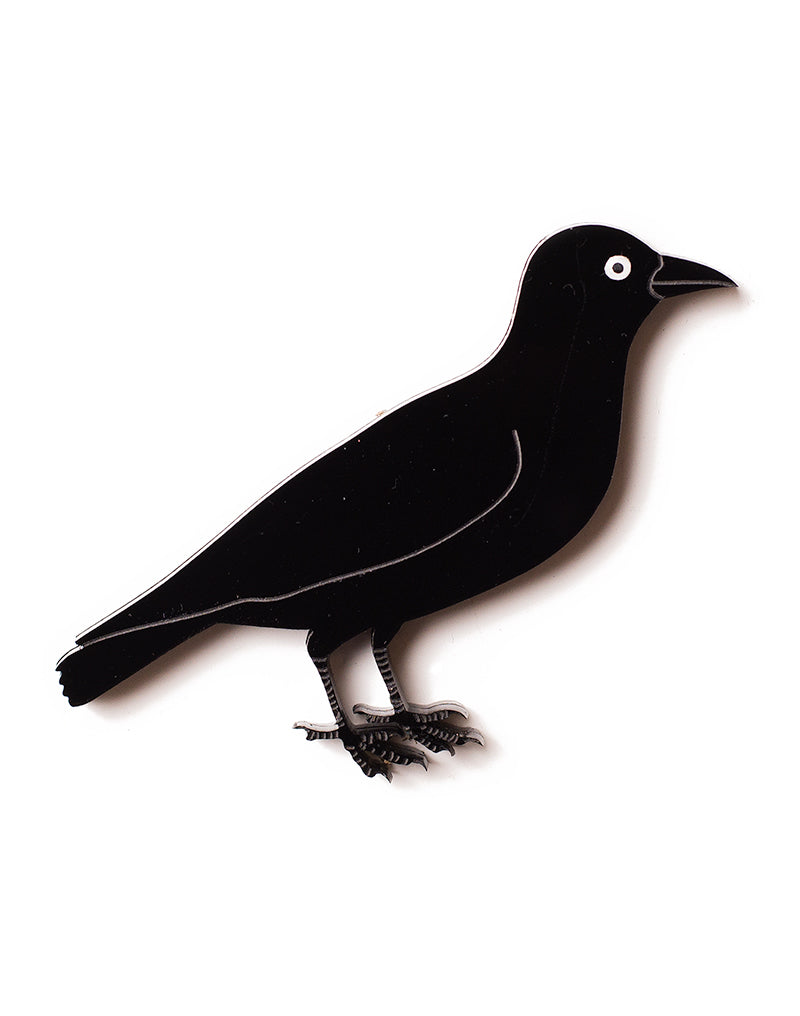 Black Crow Brooch