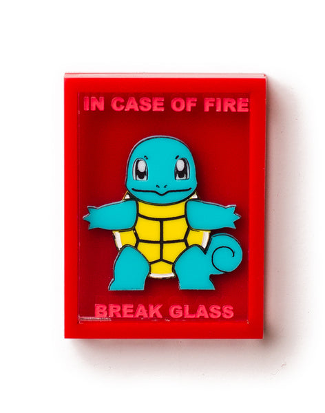 Acrylic Emergency Squirtle Box Brooch