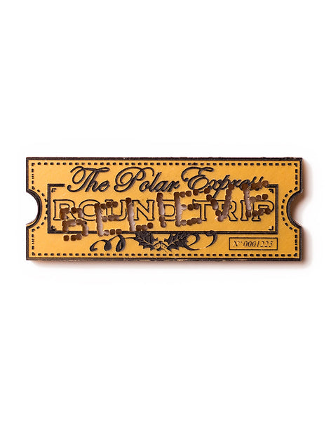 Polar Express Believe Train Ticket Brooch