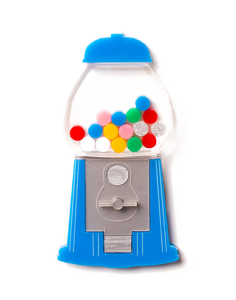 Acrylic Blue Gumball Machine Brooch