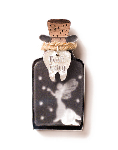Fairy Jar Brooch - Tooth Fairy