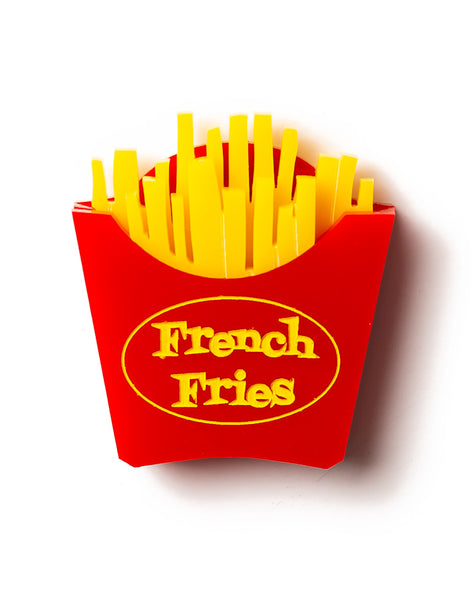 Acrylic French Fries Brooch