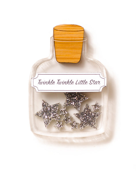 Twinkle Twinkle Little Star Bottle - Silver