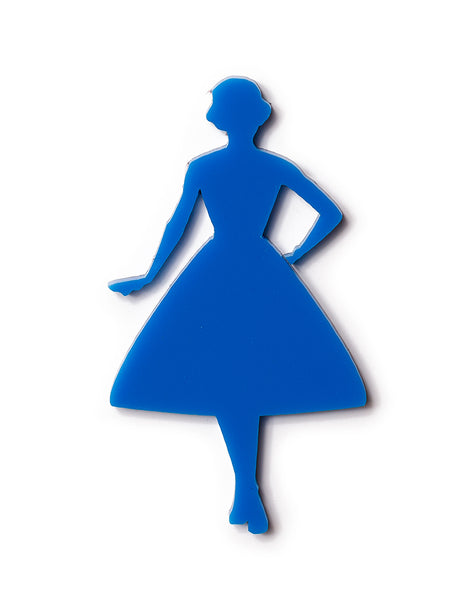 Vintage Lady Swing Silhouette Blue