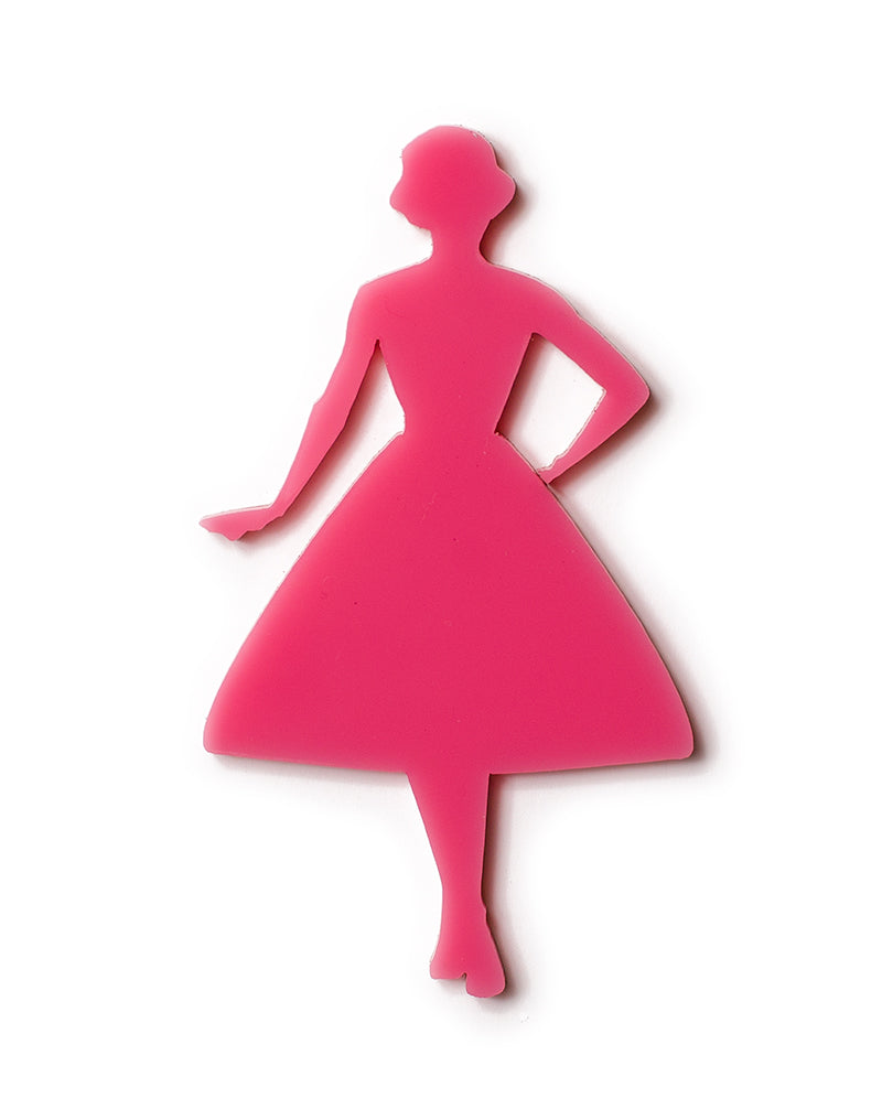 Vintage Lady Swing Silhouette Pink