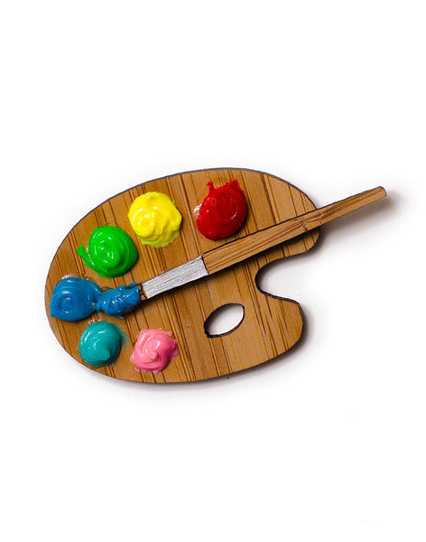 Paint Palette Brooch