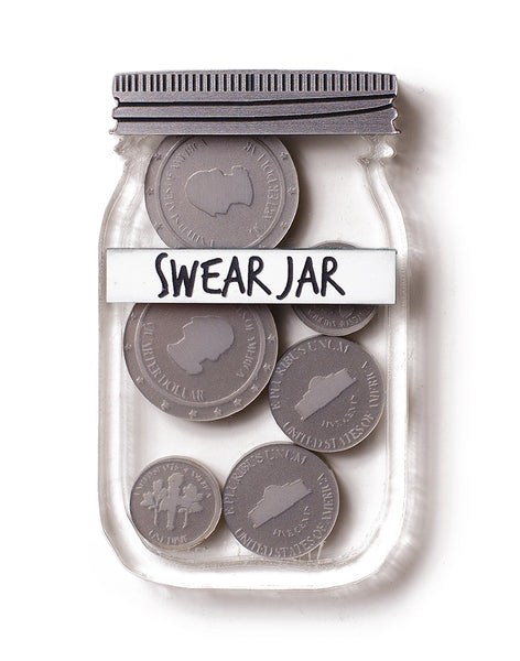 Swear Jar Brooch - US Coins