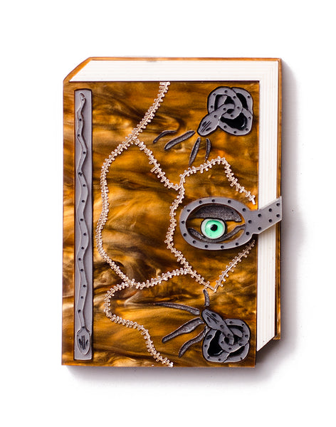 Spell Book Brooch snakes & eyeball Hocus