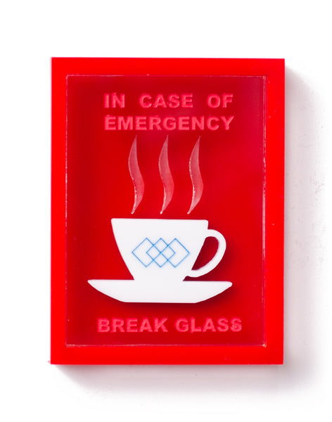 Emergency Tea Cup Box Brooch