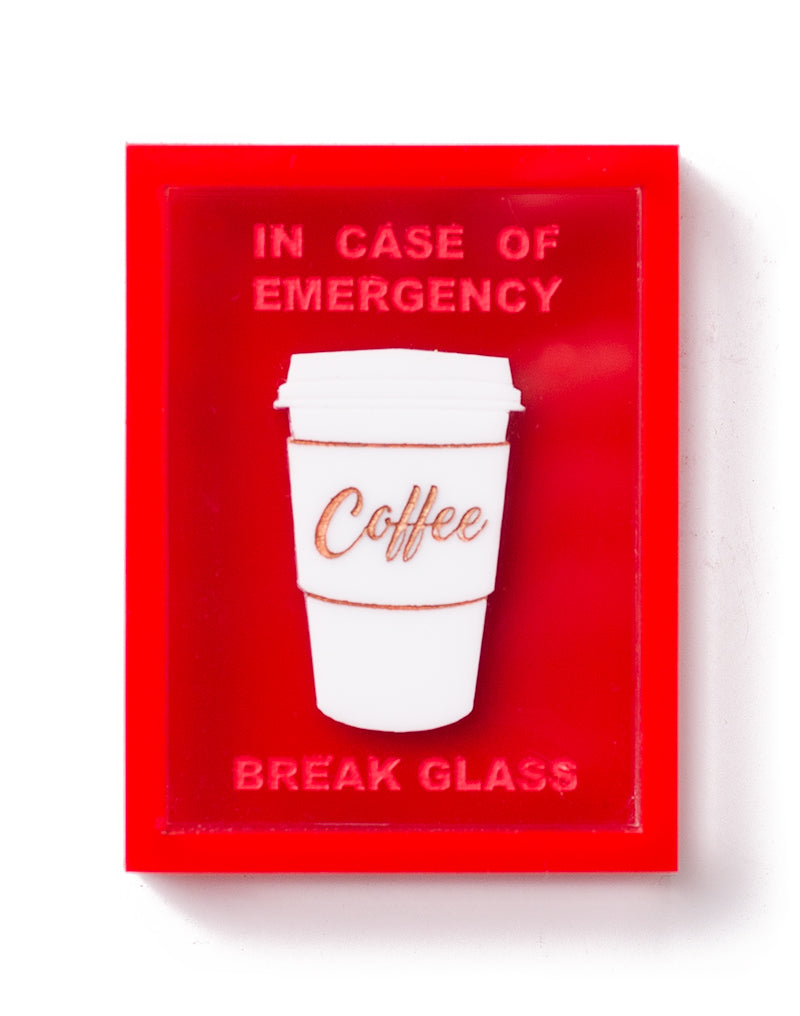 Emergency Coffee Box Brooch