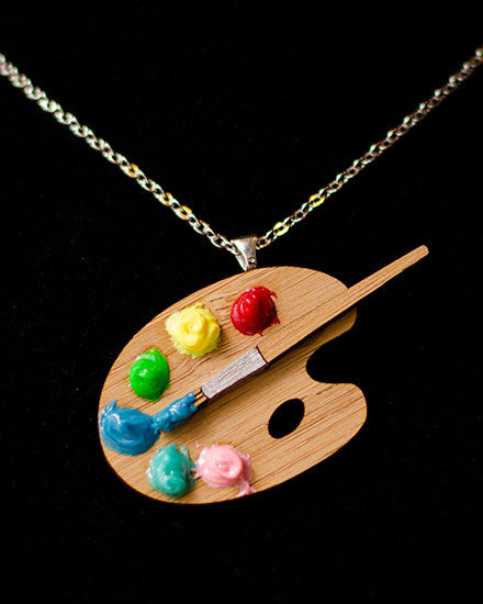 Paint Palette Necklace