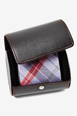 Black Leatherette Tie Case in Amazon