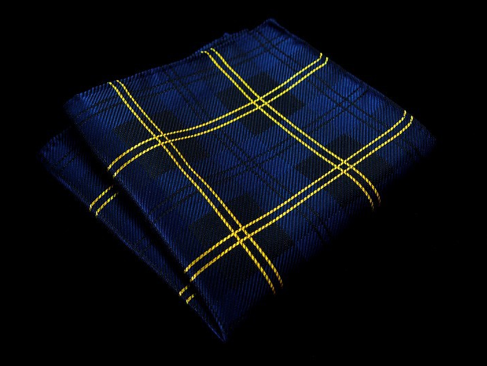 187f844fb08d5 ... Yellow Striped Blue Pocket Square - The Gentleman Shoppe   Fashion  Accessories for the Modern Gentleman ...