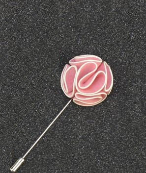 Elegant black stone and crystal lapel pin the gentleman shoppe light pink flower lapel pin with white lining the gentleman shoppe fashion accessories for mightylinksfo