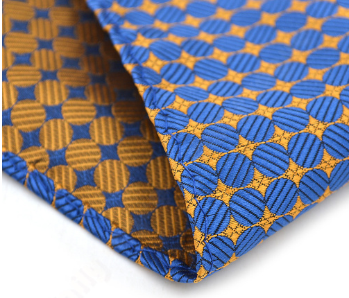 3f2ff188f29df ... Blue & Gold Reversible Pocket Square - The Gentleman Shoppe   Fashion  Accessories for the Modern ...