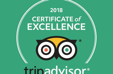 TripAdvisor's 2018 Certificate of Excellence