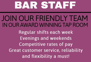 Bar Staff Required!