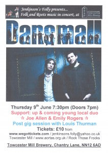 DANSMALL – Thursday 9th June