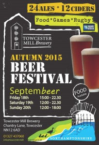 Easter Beer Festival at Towcester Mill Brewery