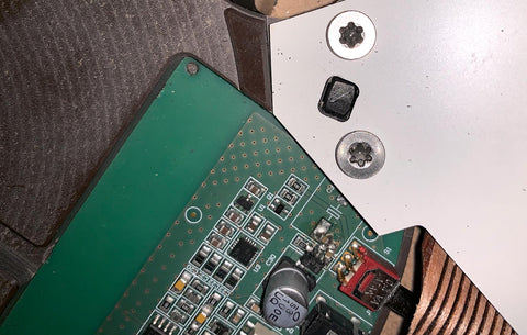 Wheel's audio board mounted in the Pertinax and wooden housing