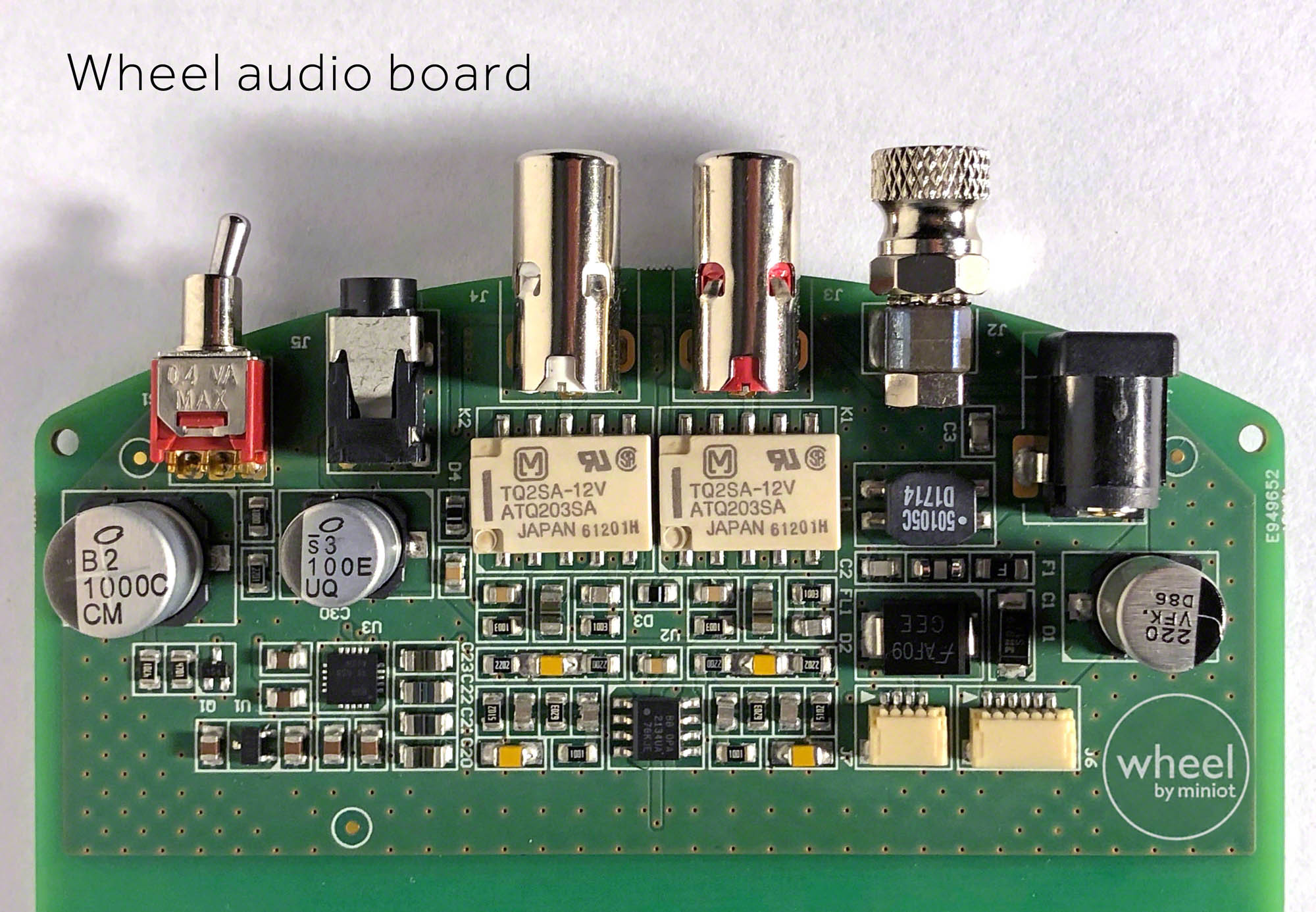 Wheel audio board