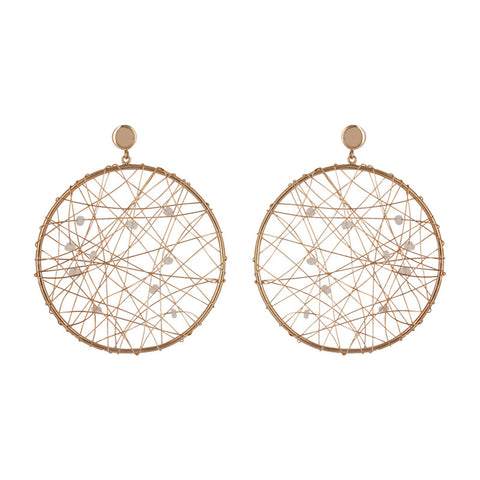Ravish Round Dreamcatcher Earrings