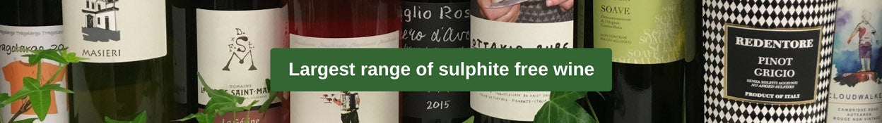 largest range of sulphite free wine in the UK