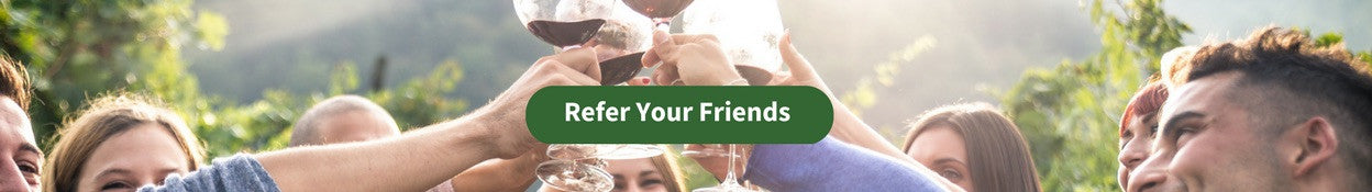 invite friends to Organic Wine Club and earn wine rewards