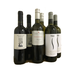 Sulphite-free case of organic wines