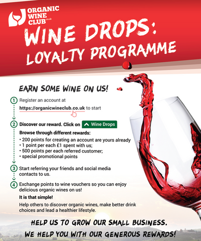 Wine Drops loyalty programme earn wine on us refer friends