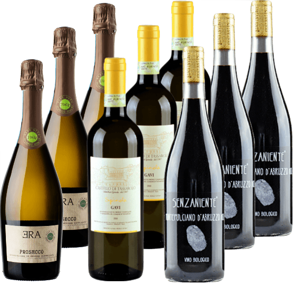 Organic Wine Club Mixed Case: Natural Wine Case of 9 Wines | Christmas | Party