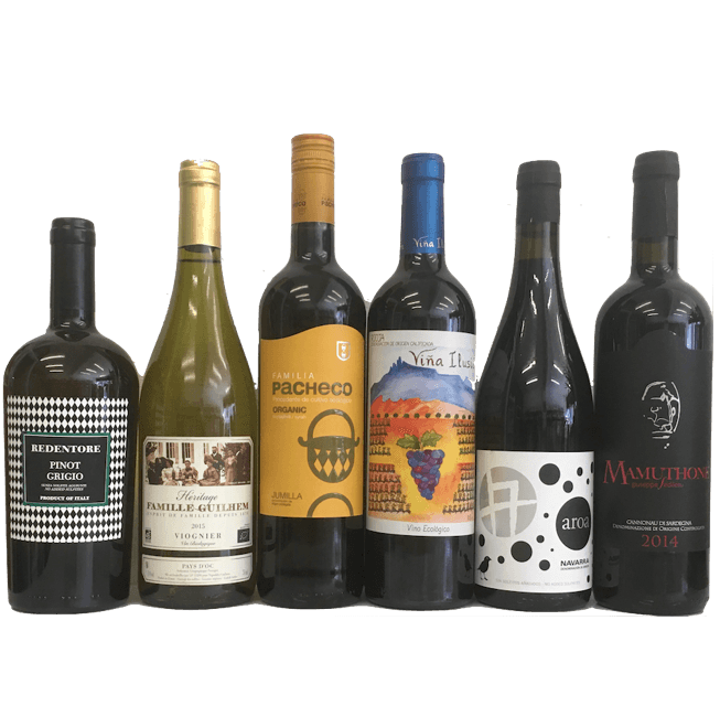 Your Wine for a Week Sorted! Wine case of 6 organic wines
